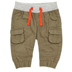 Ribbed-waist Cargo Pants
