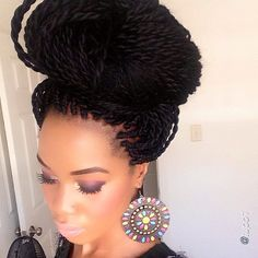 Crochet Braids Bun Styles : twist bun more braids hairstyles gorgeous hairstyles braid hairstyles ...