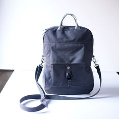 Mood canvas bags.   NO.1  $179.00    Gunmetal Grey. Manufactured in Pittsburg PA