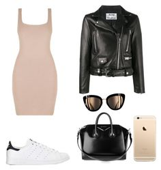 Gold/nude by zosiaav on Polyvore featuring polyvore, fashion, style, Acne Studios, adidas, Givenchy and clothing
