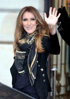 Celine Dion leaving her hotel on Nov. 12th in Paris