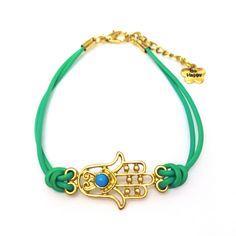 Turquoise Hamsa Hand Bracelet-£4 #prettytwisted #hamsa http://prettytwistedonline.co.uk/product/turquoise-hamsa-bracelet/