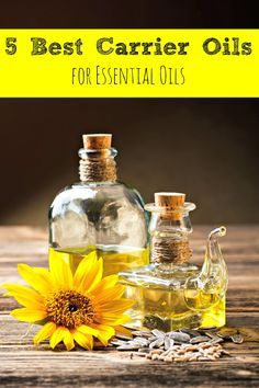 Many essential oils need to be applied with a carrier oil, But what exactly is a carrier oil? Here are 5 of the best carrier oils to use with your oils!