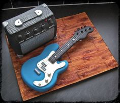 Birthday Cakes - Guitar and Amp cake