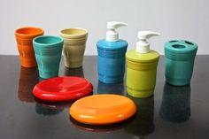 DISHing with HLCCA   P86 Fiesta® Bath Items ~ Soap dispenser,bathroom tumbler,soap dish, toothbrush holder