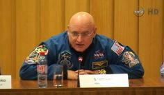 NASA astronaut Scott Kelly speaks to reporters during a news conference on Dec. 18, 2014, before his 2015 launch to the International Space Station for a one-year mission.<br />