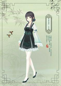 Anime hanbok lolita qi