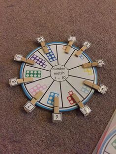 Numicon number match. Idea taken from Pinterest