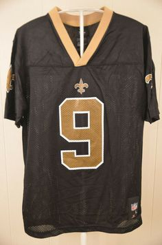 Details about Drew Brees New Orleans Saints Reebok On Field NFL Jersey  Youth Large 14-16 c6c61b46b
