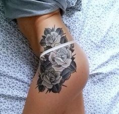 Floral Hip Tattoo