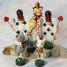 Entire Collection Alice in Wonderland Lori Mitchell Collectible Figurines