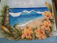 Pintura em tecido com stencil/Flor Lírio - YouTube