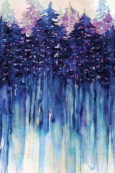 """Northwest Vibes III"" By Artist Julia Di Sano, Owner/ Artist of Ebi Emporium…"
