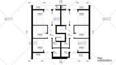 Proiecte de case duplex moderne: confort cu buget redus Floor Plans, Diagram, Houses, Floor Plan Drawing, House Floor Plans