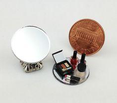 1 12 Scale Dollhouse Miniatures Cosmetic Makeup Kit Lipstick Nail Polish Set B Mini Makeup, Makeup Kit, Nail Polish Sets, Barbie Accessories, Miniature Dolls, Makeup Cosmetics, Dollhouse Miniatures, Polymer Clay, Tiny Tiny