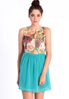 Cut It Out Floral Dress #threadsence #fashion #fashion