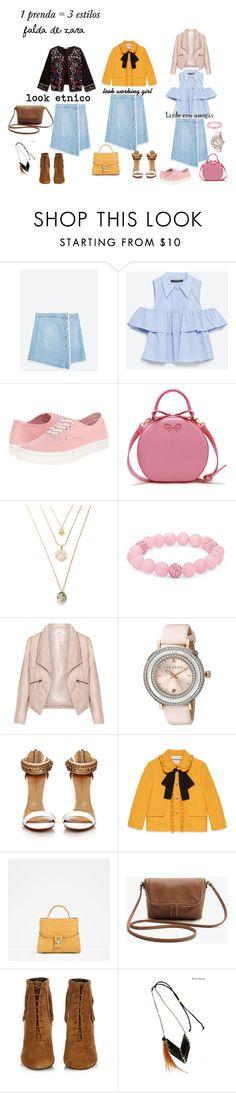 """1 prenda : 3 estilos"" by aliciagorostiza on Polyvore featuring moda, Zara, Vans, Palm Beach Jewelry, Zizzi, Ted Baker, Gucci y Yves Saint Laurent"