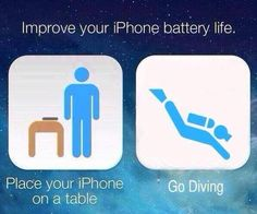 Place your iPhone on a table and Go Diving!