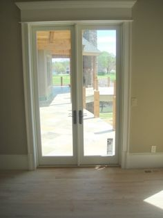 Outswing french door on brick house images exterior for Marvin integrity storm doors
