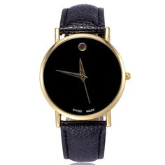 Male Simple Quartz Watch with Golden Dot-3.23 and Free Shipping| GearBest.com