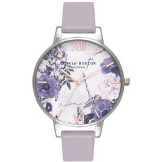 Olivia Burton Marble Florals Watch in Grey Lilac Latest Women Watches, Popular Watches, Marble Jewelry, Rose Gold Jewelry, Gold Jewellery, Gold And Silver Watch, Red Gold, Watch Engraving, Cute Watches