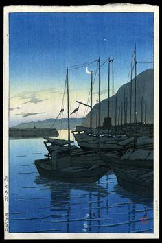 Kawase Hasui: Beppu in the Morning, Oita - 1928