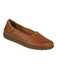 Look what I found on #zulily! Cognac Leather Feist Flat by Naturalizer #zulilyfinds