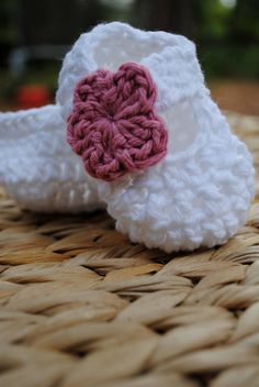 Mary Jane Crochet Booties