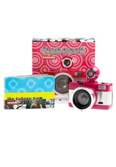 Fisheye 2 Lomography Camera. There's nothing fishy about this camera! #pink #modcloth