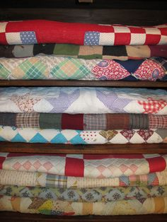 Collection...of vintage quilts.