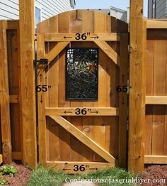 DIY Gate Building Instructions including how to add this beautiful iron 'window'