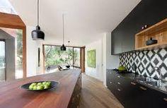 Image result for kitchen black timber