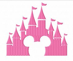 Mouse Castle Filled Machine Embroidery Designs by AppliquesByMe