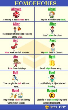 150+ Sets of Homophones - Commonly Confused Words - 7 E S L