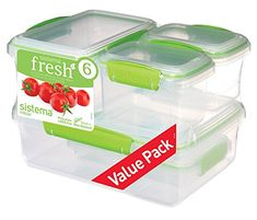 The Sistema Fresh Rectangular Food Container saves you space with it's modular design that allows for easy stacking in your fridge or pantry. The container's easy locking clips ensure the lid is tight so your food is fresh and secure. Kitchen Storage Boxes, Airtight Food Storage Containers, Glass Food Storage, Food Containers, Anna, Morrisons, Utensil Set, Lime, Packing