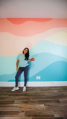 Creative Wall Painting, Diy Wall Painting, Mural Painting, Girls Room Paint, Kids Bedroom Designs, Rainbow Room, Big Girl Rooms, My New Room, Kids Room