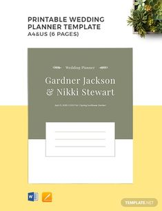 Instantly Download Free Printable Wedding Planner Template, Sample & Example in Microsoft Word, Apple Pages Format. Available in A4 (8.27x11.69 inches) & US (8.5x11 inches). Quickly Customize. Easily Editable & Printable.