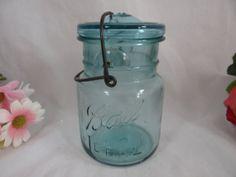 1920s Ball Ideal No.2 Blue Mason Jar Canning Jar by SecondWindShop, $10.00