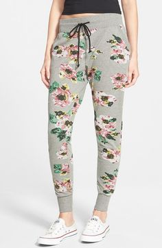 Free shipping and returns on House of Mental Floral Print French Terry Jogger Pants (Juniors) at Nordstrom.com. Big, beautiful blossoms sweeten the sporty attitude of trendy, tapered jogger pants cut from soft, comfy French terry.