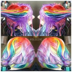 Gorgeous Short Rainbow Hair ♡