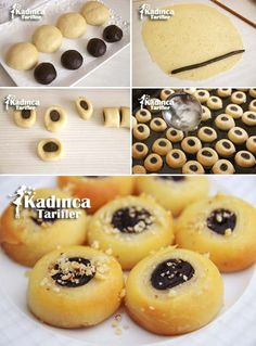 Karagöz Tatlısı Tarifi Biscotti Cookies, Afternoon Tea, Doughnut, Tart, Food And Drink, Sweets, Fruit, Desserts, Crack Crackers