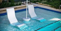 Submersible pool-side table adds convenience + water-resistance to your lounging experience, available in 13 colors. Shop BOXHILL for all modern outdoor style! Swimming Pool House, Small Swimming Pools, Swimming Pool Designs, Ledge Lounger, Pool Umbrellas, Backyard Pool Landscaping, Landscaping Ideas, Backyard Ideas, Modern Outdoor Furniture