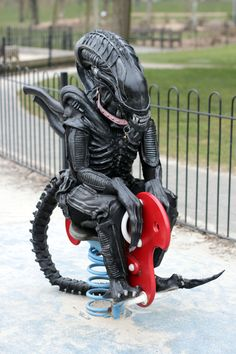 Alien's day at the park