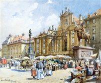 Blumenmarkt am Hof in Wien von Reinhold Völkel