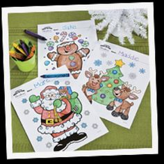 Christmas coloring for the kids