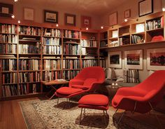 Home Library Design Ideas - I would want all my books to be accessible though so I can actually read them.