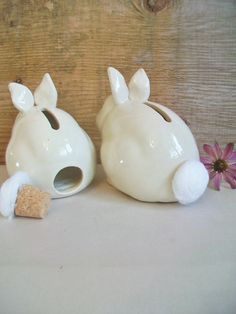 Bunny bank!! love the tail