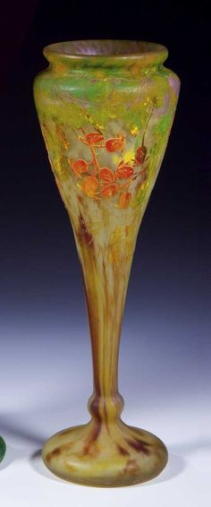 Lot: 432: Vase Daum Nancy Glass Art Deco Nouveau Rose Old, Lot Number: 0432, Starting Bid: €2,800, Auctioneer: Dr. Fischer Fine Art Auctions, Auction: European Glass and Studio Glass, Date: October 20th, 2007 UTC