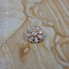 BVLA Rosetta in solid Rose Gold with genuine Opal AA in the center surrounded by CZs Cute Jewelry, Body Jewelry, Silver Jewelry, Jewelry Accessories, Jewellery, Body Mods, Diamond Studs, Rosettes, Piercings