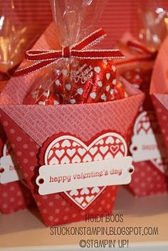 Monday, February 14, 2011 Stuck on Stampin': wrapping up Valentine's Day